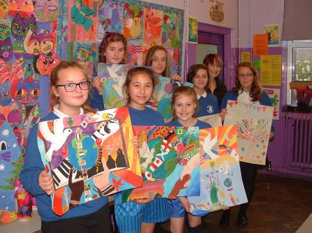 Peace Poster entries from Swanmead School 2016