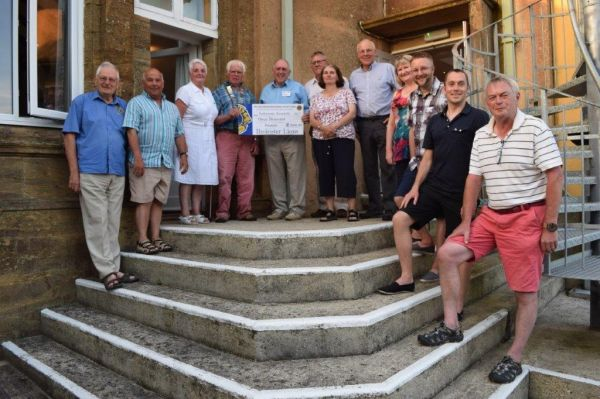 Parkinsons Research cheque presentation