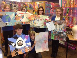 Peace posters from Swanmead School