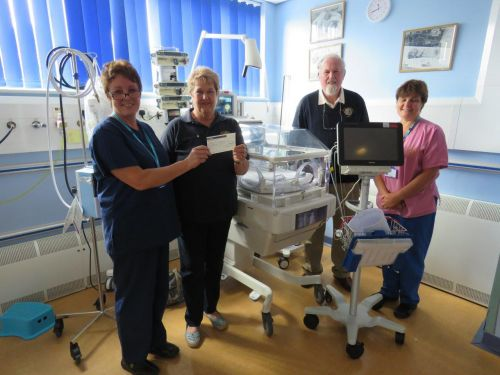 Cheque for NeoNatal Unit, Musgrove