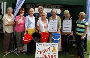 The Lions Teddy Bear Stall with helpers