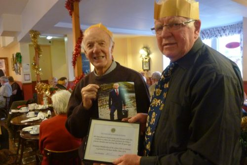 Presentation to Norman Miller, Xmas 2016