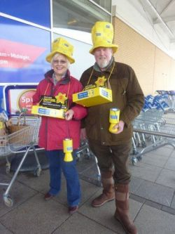 Collecting for Marie Curie Cancer Care at Tesco, Ilminster