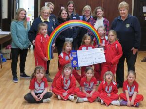 SP Rainbows cheque presentation