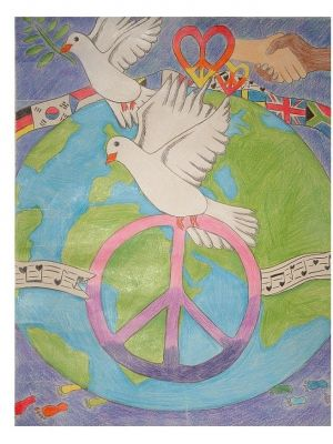 Sophie Gibbins' winning Peace Poster 2016
