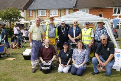 Lions club members at 2015 Summer Fete